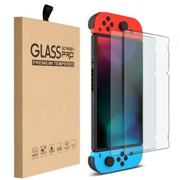 Wholesale Nintendo Screen Protectors - 9H Premium Tempered Glass Screen Protector HD Clear Anti-Scratch For Nintendo Switch 2017 With Retail Package