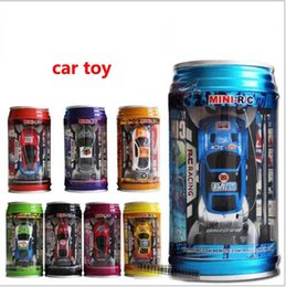Wholesale Remote Race Cars - Diecast Model Cars Mini Racing car cartoon Remote Control Car Coke cans Radio Remote Control Racing Car kids toys XT