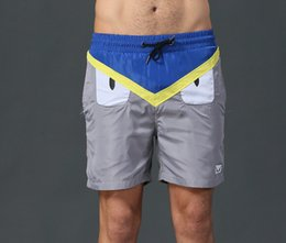 Wholesale Brand Bench - 2017 luxury brand shorts men monster eye sport short pants bench summer fashion trousers funny gym pants