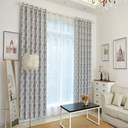 Wholesale Elegant Curtains For Windows - High-end elegant floral photo print high blackout rate window curtain for living room bedroom double side print wholesale fabric price