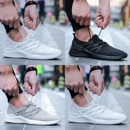 Wholesale White Mesh Walking Shoes - High quality comfortable breathable men's casual shoes mesh lightweight outdoor breathable walking shoes (black and gray and white)