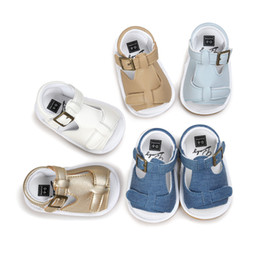 Wholesale Baby Walking Sandals - ins Summer baby first walking shoes Fashion baby sandals Summer baby Buckle footwear Soft bottom non skid toddler shoes XT