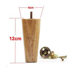 Wholesale Wood Sofa Feet - 4PCS LOT H:12CM Diameter:4-6cm Solid Wood Sofa Cupboard Legs Feet