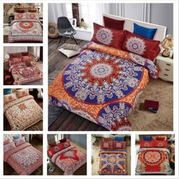 Wholesale Queen Pillow Covers - 24 Styles 3D Bedding Sets Queen Size Bohemian Mandala Bedding Quilt Duvet Cover Set Sheet Pillow Cover 4pcs Bedding Set Gifts CCA8082 1set