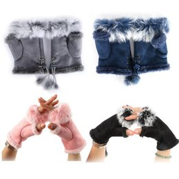 Deutschland 2017 mode winter warm girl leder kaninchen hand warme winter fingerlose handschuhe Wildleder velveteen handschuhe C001 Versorgung