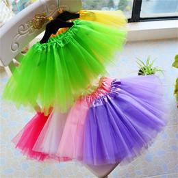 Wholesale White Ballet Skirt Children - New Fluffy Petticoats for Formal Flower Girl Dress Short Crinoline Girls Child Underskirt Princess Party Ballet Dance Tutu Skirt