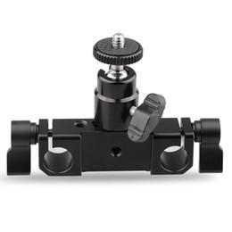 Wholesale Dslr Rod Clamp - CAMVATE Rod Clamp 15mm Railblock+ 1 4 Hot Shoe Mount Mini Ball Head Flash Bracket Holder
