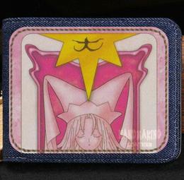 Wholesale Sakura Dress - Clow Card wallet Captor sakura cartoon purse Anime short cash note case Money notecase Leather burse bag Card holders