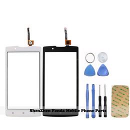 Schermo touch screen capacitivo 3m online-Strumenti Wholesale + 3M Sticker + Nero bianco Per Lenovo A2010 A 2010 Touch Screen Pannello sensore Digitizer capacitivo in vetro