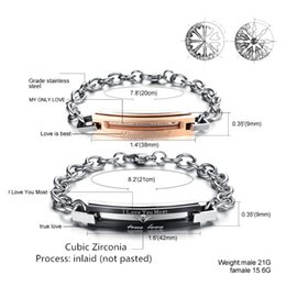 Wholesale Mirror Bezel - 2017 Drop Shipping Best Selling Fashion Mirror Bangle Bracelet Rose Gold Stainless Steel Charm Men's Love Gift Friends OEM ODM Diamond Ring