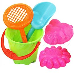 Wholesale Sand Buckets Beach Toys - Wholesale-Tiny Beach Sand Toys Tools Bucket Set For Toddler Kids Children