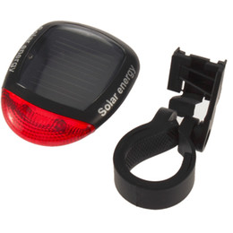 Venta al por mayor a prueba de agua luz de la bici 2 LED 4 modo luz de la luz intermitente trasera alimentada por energía solar para la luz de advertencia de la seguridad de la lámpara de ciclo de la bicicleta que destella la luz desde fabricantes