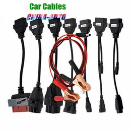 Wholesale Peugeot Car Key Repair - Hot selling CAR CABLE OBD OBD2 full set 8 car cables diagnostic Tool Interface cable for TCS pro plus multidiag pro