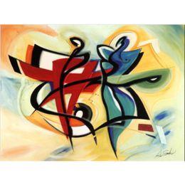 pinturas abstratas da lona para venda Desconto Alfred Gockel pinturas para venda Way to Go abstrato moderno da arte da lona de Alta qualidade pintados à Mão