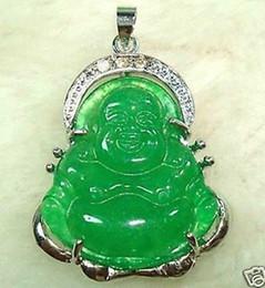 Collier pendentif en jade chinois bouddha en Ligne-COLLIER PENDENTIF BOUDDHA ARGENT JADE VERT CHINOIS