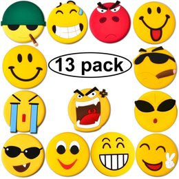 Wholesale Wholesale Decorative Magnets - Emoji Fridge Magnets, 13 Set Strong Refrigerator Magnets for Whiteboard Calendar Maps, Perfect Home kitchen Decorative Magnet, Office Suppli