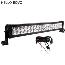 Wholesale led light kits for boats - HELLO EOVO 22 Inch 120W LED Light Bar + Wiring Kit for Indicators Work Driving Offroad Boat Car Truck 4x4 SUV ATV Fog Combo