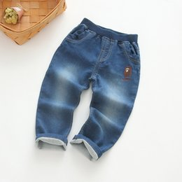 Wholesale Boys Cuffed Jeans - Kids clothing new design chirlden long pants turn up cuff baby jeans boys ang girls cloth pattern jeans