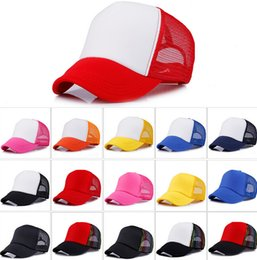 Wholesale Designer Visors - Designer Plain Baseball Mesh Cap Adjustable Snapback Blank Trucker Hats Mens Womens Adults Cheap Sun Visors Custom Print Embroidery Logo