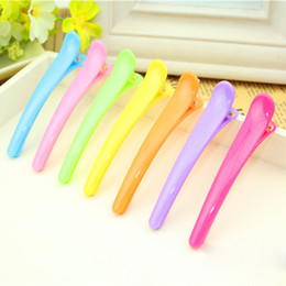 Wholesale Hair Clips For Hairdressers - Wholesale- 10Pcs Women's Hair Cutting Clip Mixed Color Style Hairdresser Hairpins Hair Styling Tools Barrette Hair Accessorie For Salon