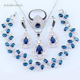 Ensembles de bijoux de mariage en argent 925 noir pierre cristal blanc pour les femmes pendentif / collier / bracelet / boucles d'oreilles / bague ? partir de fabricateur