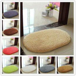 Wholesale Memory Foam Bath Mat Blue - Oval Multicolor Anti-slip Soft 40X60cm Floor Mat Rug Memory Foam Bath
