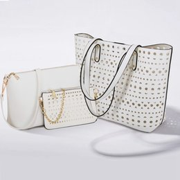 Wholesale Korean Suits Shoulder Women - Women Hollow PU Pattern Shoulder Bag Handbag Clutch Bag Crossbody Bag Suit
