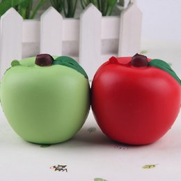 Wholesale Fund Wholesaler - 2018 New Arrival Slow Rising 7CM Red Fashion Cute Fund Apple Squishy 1PCS Straps Bread Green 2017 New Random Color