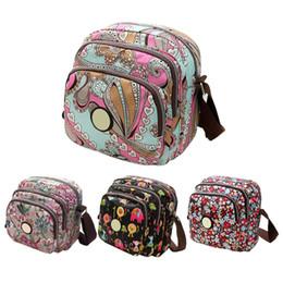 Wholesale Bags Mom - Wholesale-2016 Korean Fashion Women Messenger Bags Canvas Flower Print Crossbody Shoulder Bags Small Ladies Designer Mom Handbags
