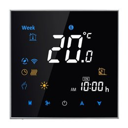 Wholesale Room Thermostats - Wholesale-95-240V 16A Thermostat Electronic Heating Type LCD Digital Heating Room Sensor Thermostat Temperature Humidity Heat Time Display