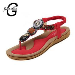Wholesale Shoe Sandles - Wholesale-Woman 2016 New Summer Flat Sandals Ladies Summer Bohemia Beach Flip Flops Shoes Women Shoes Sandles Zapatos Mujer Sandalias