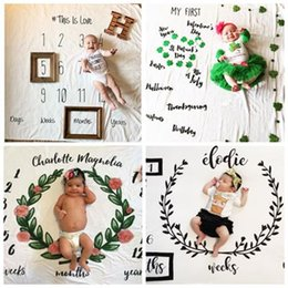 Wholesale Photography Backgrounds Backdrops - 2017 newborn photography background props baby photo prop fabric backdrops easter infant blankets wrap letter soft blanket ins cloth mat kid
