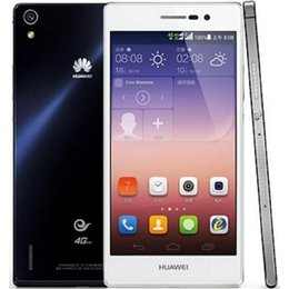 Wholesale Huawei 4g Android - Refurbished Original Huawei Ascend P7 L00 5.0 inch Dual SIM Kirin 910T Quad Core 1.8GHz 2GB RAM 16GB ROM 8.0MP 4G LTE Android Phone Free DHL