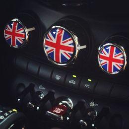 Wholesale Personalized Jack - 3D 3pcs lot rubber black union jack car interior accessories for mini cooper s F55 F56 2014 2015