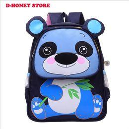 Wholesale 3d Animal Backpacks - 2017 NEW 3D School Kids Panda Backpack Boy Cartoon Children School Bags kids backpack free shipping