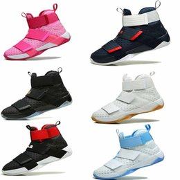 Wholesale Orange Shoes For Women Cheap - Cool Quality Cheap High Soldiers Basketball Shoes for Men Kids Women LBJ X 10s James Sports Training Sneakers White Pink Blue Size 36-46