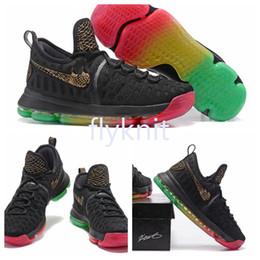 Wholesale Rainbow Shoes Sale - 2017 Hot Sale ZOOM KD9 Rainbow Basketball Shoes Kevin Durant 9s Sneakers Top Quality Mens Training Sports Size 7-12 Free Shipping