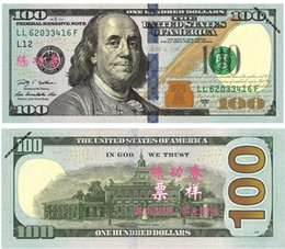 Wholesale Pens Paper - $1 2 5 10 20 50 100 Dollars Fake Paper Money Bank USA Training Collect Learning Banknotes 100Pcs Set