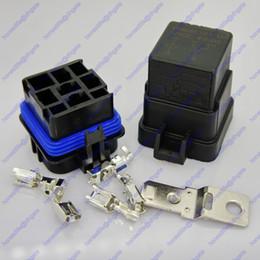 Wholesale rv kits - 12V 40A 5-Pin Waterproof Sealed Integrated SPDT Relay Kit Socket Car SUV RV Boat Free shipping