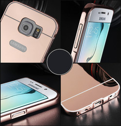 Wholesale Metal Bumpers For Galaxy S3 - Luxury Mirror Aluminium metal Bumper Case For iPhone 5 5S 6 7 Plus 6S galaxy S3 4 5 S6 S7 edge A5 A3 J5 J7