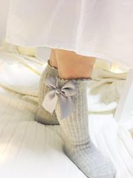 Wholesale Korean Wholesale Socks - Baby Socks Kid Princess Socks For Kids Girl Dress Korean Baby Girls Cotton Sock Autumn Knit Knee High Socks Kids Clothing