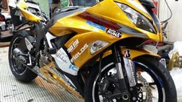 Wholesale Kawasaki Aftermarket Motorcycle Fairings - New Aftermarket Motorcycle ABS Injection Fairing Kit Fit For kawasaki Ninja ZX6R 599 636 13-16 ZX-6R 2013 2014 2015 bodywork gold and white