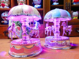 Wholesale Toy Carousels - 2016 New Carousel Music Boxes HOT Chrismas Birthday Gifts Merry-Go-Round Music Box For Kids Valentine's Gift Best Show In Love