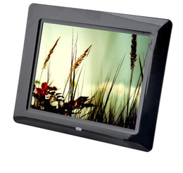 Wholesale Video Picture Frames - 8 inch Full HD LCD Digital Picture Frame 1024*768 Digital Photo frame support Alarm Calendar MP3 Movie Player
