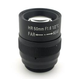 "Wholesale Iris Hd - 1.5MP 50mm lens Manual Iris Fixed focal length Lens 1 2"" F1.6 C Mount HD Lens for Machine Vision cameras"