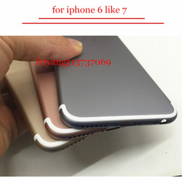 Wholesale Door Back Cover Replacement - A quality Back Cover Housing For iPhone 6 6s Like 7 style Aluminum Metal Back Battery Door Cover Replacement