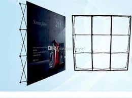 Wholesale Flower Banners - Free Shipping 230cm*230cm Aluminum flower Wall stand frame for Tradeshow Straight Tension Banner Exhibition Display Stand Trade Show Wall