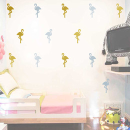 Wholesale birds wall decal - Wall Sticker Little Flamingo Bird Animal Vinyl Removable Stickers For Room DIY Cartoon Decal Art Walls Decor 3 8qh F R