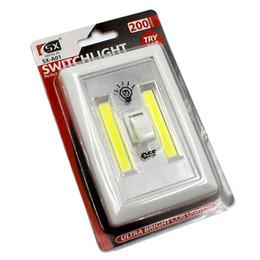 Wholesale Self Stick Led Lights - COB LED Switch Light bar Wireless Magnetic Mini LED Night Light Portable Multi-Use Magic Tape Self-Stick Battery Power for Camp Lamp Indoor