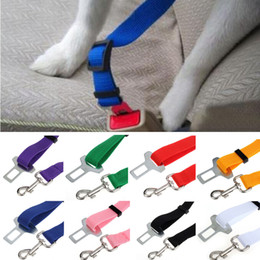 Wholesale Colour Car Led Lights - Adjustable Pet Cat Dog Car Safety Seat Belt Harness Vehicle Seatbelt Lead Leash for Dogs 6 Colours BY DHL